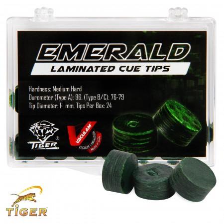 Наклейка для кия tiger emerald ø14мм medium/hard