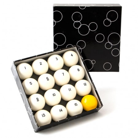 Комплект шаров 68 мм «Classic Standard» (желтый биток)