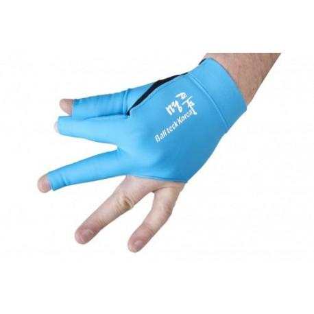 Перчатка бильярдная «Ball Teck 3» (черно-бирюзовая, вставка замша), защита от скольжения