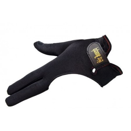 Перчатка бильярдная «Sir Joseph» (черная, на липучке) S