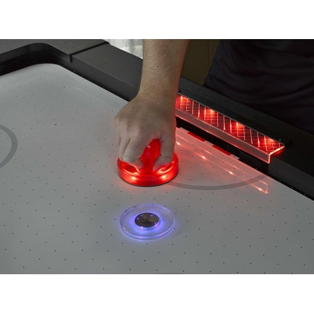 "Бита для аэрохоккея LED ""Atomic Top Shelf / Lumen-X Laser"" D96 мм, красная"