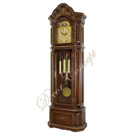 Часы напольные Columbus CR-9089-PG-CH «Вишневая элегия» gold