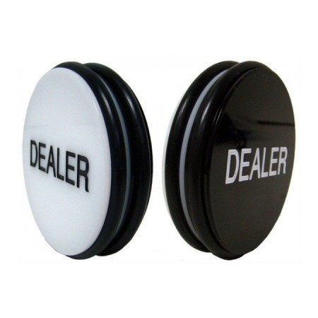 Кнопка дилера Black&White