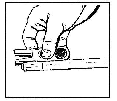 Обработка боковой поверхности наклейки